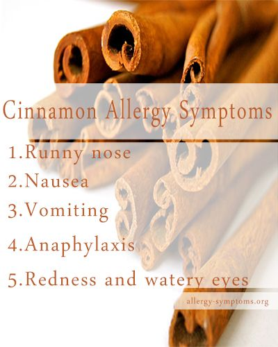 All About Cinnamon Allergy - Symptoms