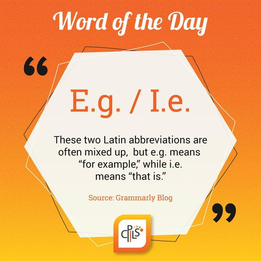 Difference Between I.e. And E.g. - Picture