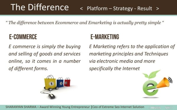 Difference Between E-Commerce And E-Marketing - what is e-commerce - what is e-marketing