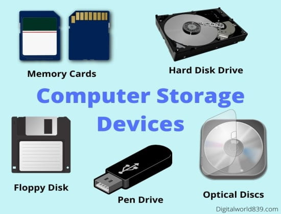 Difference Between Storage Devices And Communication Devices - Storage devices